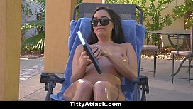 TittyAttack - Busty Babe Oiled...
