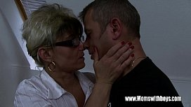 Mature Stepmom Comforting A Broken Hearted Stepson