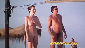 Amateurs Nudist Playing Volleyball On The Beach Video