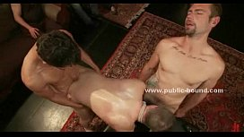 Gay male slave is...