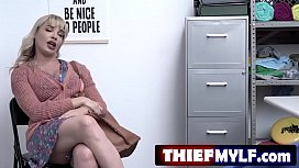 Dana Dearmond is recorded by security cameras stealing items from the baby aisle - FULL SCENE on http://thiefMYLF.com