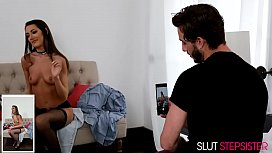 SLUTTY LILY ADAMS FUCKS HER STEPBROTHER IN SEXY STOCKINGS