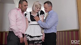 Horny British Maid gets...