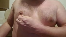 Nipple playpiercing with safety pin xxx video
