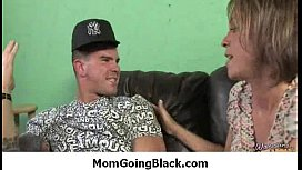Hot MILF deepthroats, gags and gets banged by a black cock 18