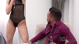 GIRLSRIMMING - Hot kinky rimming and hard sex with skinny Sasha C