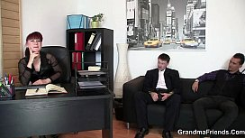 Mature office lady in...