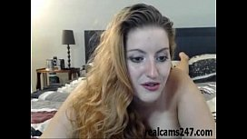Sexy busty girl plays on cam