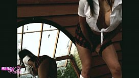 Outdoor School Girl Strip...