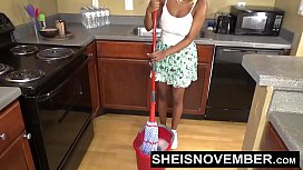 Sheisnovember Topless Mopping In...