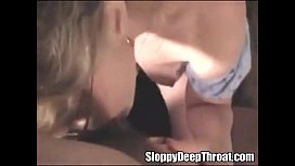 Amazing deepthroat from horny...