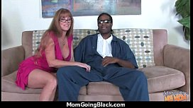 Sexy mom gets a creamy facial after getting pounded by a black dude 7