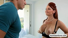 Busty milf threesome with...
