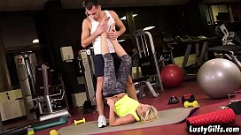 Szandi is a gorgeous GILF that loves having workout sex with her favorite personal trainer John Price.