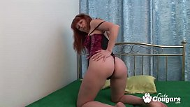 Mature Redhead Jasmina Hot Finger Bangs Her Hairy Fire Crotch