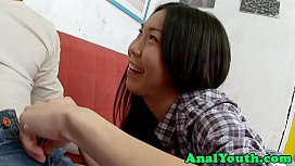 Asian teen buttfucked after blowjob xxx video