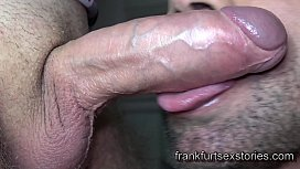 Horny cocksucker sucks cocks and swallows big loads
