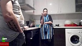 Fighting in the kitchen...