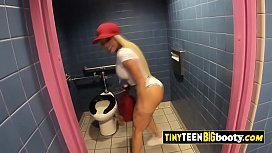 Rough sex in POV doggystyle with a teen