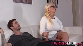Grateful Step-Mom Alura Jenson Sucks &amp_ Fucks Her d.'_s Boyfriend