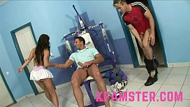 Young Stepsister in threesome...