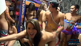 Dorm room orgy party...