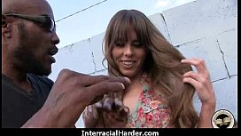 Hot girl with big tits gets fucked hard by black in her perfect pussy 22