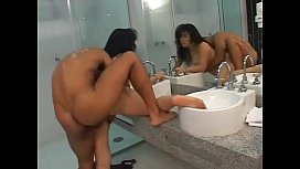 Fat Asian Chick Gets Bent Over In The Showers