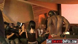 32 Hot milfs at cfnm party caught cheating