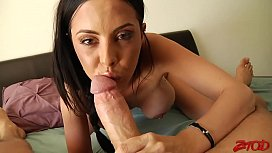 Hot Brunette Milf Pov...