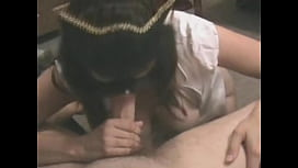 Horny masked wife sucking dick