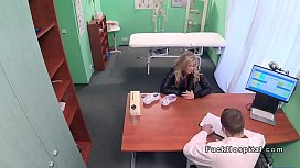 Sexy blonde patient in...