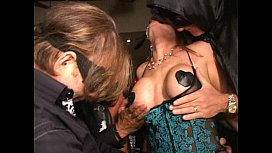 Big clit MILF in mask cums like crazy in Trapeze swinger club orgy xxx video