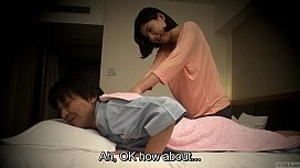 Subtitled Japanese hotel massage...