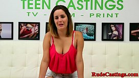 Casting teen hardfucked after...