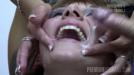 Premium Bukkake - Michelle swallows...