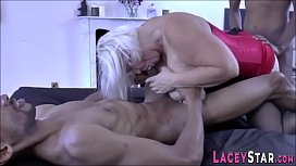 Sexy granny fucks and sucks bbc