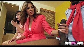 Interracial 3some with mom 19
