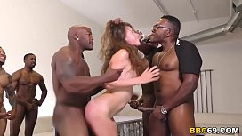 Zoey Laine Interracial Gangbang...