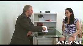 Mature teacher is taking advantage of sinless girl