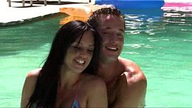 Kerry and Danny Swimming