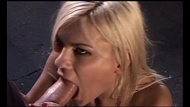 Blonde whore fucked in...