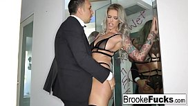 Brooke Brand takes a massive English cock
