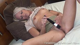 Horny Young British MILF Masturbates To Multiple Body Shaking Orgasms