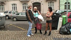 Granny prostitute pleases young...