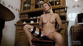 Tied girls forced to...