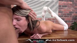 Weliketosuck - Cum tasting fun for Gina Gerson in rough sex session