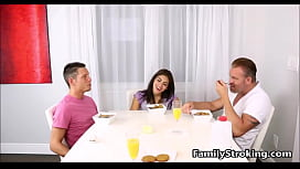 Family Threesome - Step Dad, d. and s. - FamilyStroking.com