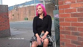 Wheelchair bound Leah Caprice...