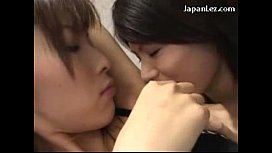 Cute Asian Girls Kissing Licking Bellybutton Armpit